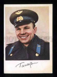134092 USSR SPACE Facsimile Yuri GAGARIN postcard