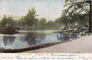 Lake West Park Allegheny Pennsylvania 1907
