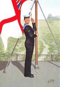 Postcard Uniforms of Royal Navy Radio Operator Tactical HMS Ark Royal 1988 #15-6