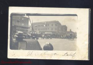 RPPC COALINGA CALIFORNIA DOWNTOWN STREET SCENE PARADE REAL