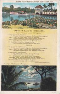 Florida Homosassa Scene On Homsassa River and John Fremont Kyger Poem