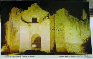 Wales Oystermouth castle at Night - unposted
