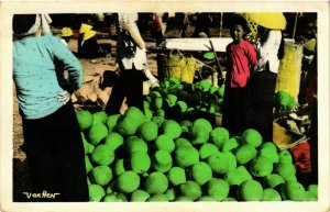 CPA AK INDOCHINA Saigon Marchande de pasteques VIETNAM (957450)