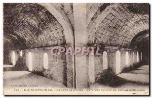 Ile St Honorat - Lerins Abbey - The Cloister - Old Postcard