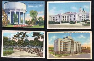 Postcard (4) Linen Unused 2 Unused 2 Used Iowa LB