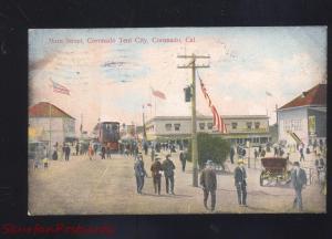 CORONADO CALIFORNIA TENT CITY MAIN STREET SCENE VINTAGE