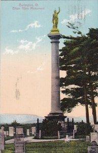 Ethan Allen Monument Burlington Vermont 1909
