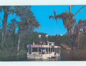 Pre-1980 NAMED BOAT Weeki Wachee At Spring Hill - Near Tampa FL hp8240-12