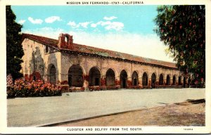 California Mission San Fernando Founded 1797 Cloister and Belfry From The Sou...