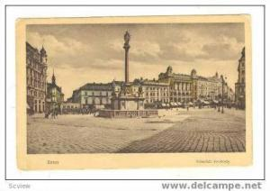 Street View of plaza, BRNO, Czech Republic, 1920s