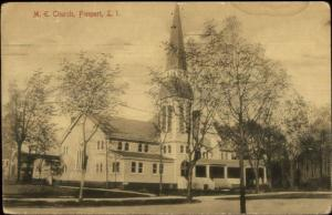 Freeport Long Island NY ME Church c1910 Postcard rpx
