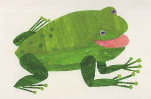 Frog Brown Bear Brown Bear What Do You See Eric Carle Book Postcard
