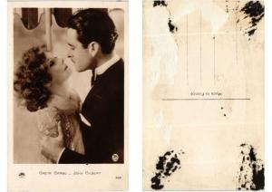 CPA Greta Garbo and John Gilbert FILM STAR (554519)