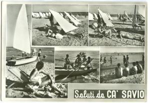Italy, Saluti CA' SAVIO, used Real Photo Postcard