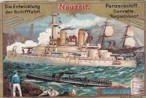 Liebig S453 Evolution Of Ships No 5 Panzerschiff Corvette Torpedoboot