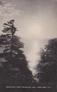 New York Port Kent Moonlight From Trenbleau Hall