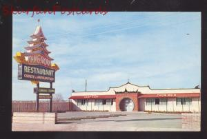 AMARILLO TEXAS ROUTE 66 DING HOW CHINESE RESTAURANT VINTAGE POSTCARD