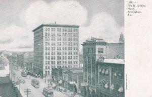 BIRMINGHAM , AL , 1901-07; 20th St. Looking North, Trolleys, Drug Store/Pharmacy