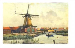Windmill in winter, Amsterdam , Netherlands, Pu-1908