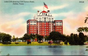 Texas Dallas Lake Cliff Showing Cliff Towers Hotel