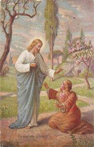 Set of four (4) beautiful spanish religious Postcards: Biblical scenes
