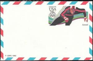 US Postcard Mint - Airmail. Olympics 1984.  Issued in 1983