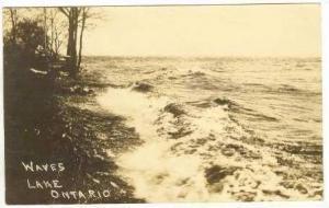 RP Waves along shoreline, Lake Ontario, Canada, PU 1914