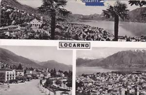 RP; 3-Views of LOCARNO, Ticino, Switzerland, PU-1960