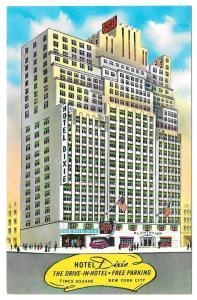 NY Hotel Dixie Times Square New York City Vtg Postcard