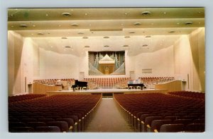 Rock Island IL, Centennial Hall, Augustana College, Chrome Illinois Postcard