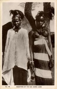 sierra leone, Native Daughters of the Sun (1930s) RPPC