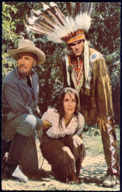 Actor JAN SID, Jozo Kovacevic, KARIN DOR (1962) Western