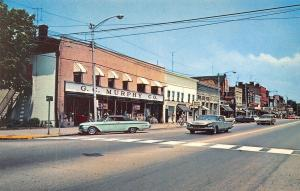 Beaver Pennsylvania~Main Street~GC Murphy Co~Theater~Nice 1960s Cars~Postcard