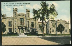 Wadsworth Athenaeum and Davis Spencer Morgan Memorial Hartford CT Postcard
