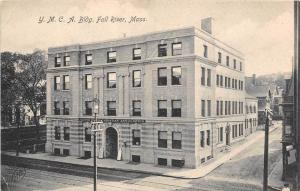 25768 MA, Fall River, 1908, Y.M.C.A. Building, signs out front