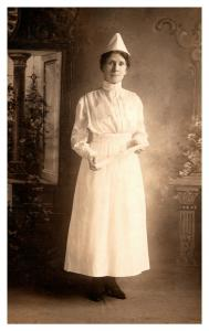 Nurse in white uniform