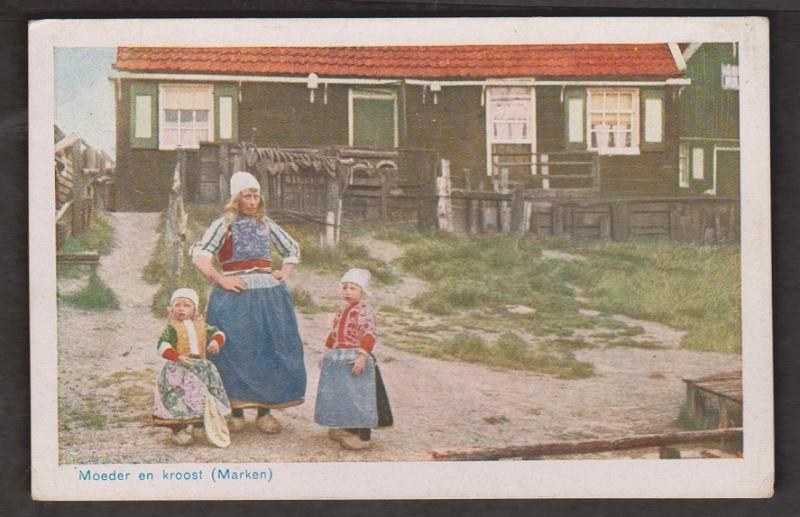 Mother & Offspring In Traditional Dutch Costume, Netherlands - Unused