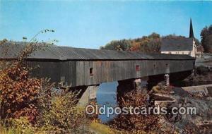 Covered Bridge Vintage Postcard Bath, NH, USA unused