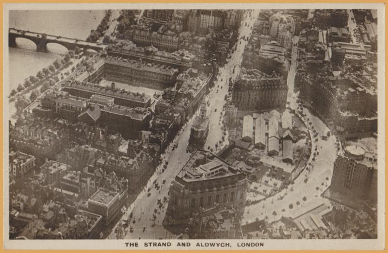 London, U.K- Aerial view of The Strand and Aldwych - The Aircraft Manu. Co. Ltd.