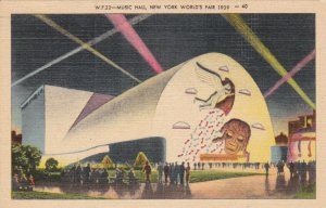 New York World's Fair 1939 Music Hall Curteich sk1938