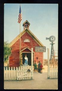 Ghost Town, California/CA Postcard, Knotts Berry Farm, Red School House, 1956!
