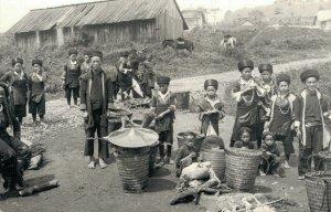 Laos Meos Real Photo Village Kids Play Indochine RPPC 03.82