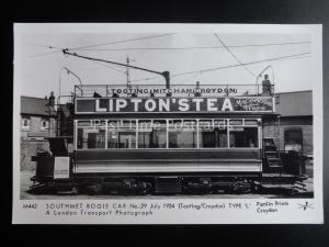 London Tram TOOTING - SOUTHMET BOGIE CAR 29 TYPE L Pamlin Print Postcard M442