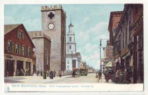 P238 JL tucks postcard new bedford ma view street scene
