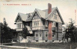 G45/ Aberdeen South Dakota Postcard A.F. Milligan's Residence Home