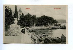 192769 Croatia Opatija ABBAZIA quay Vintage postcard