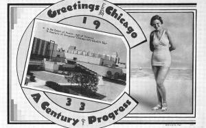 Chicago IL Century of Progress Rare Greetings From Chicago Postcard