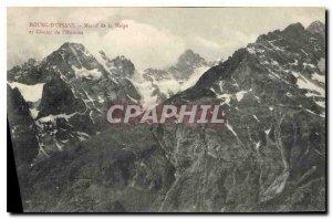 Old Postcard Bourg d'Oisans range of Meige and Glacier Man