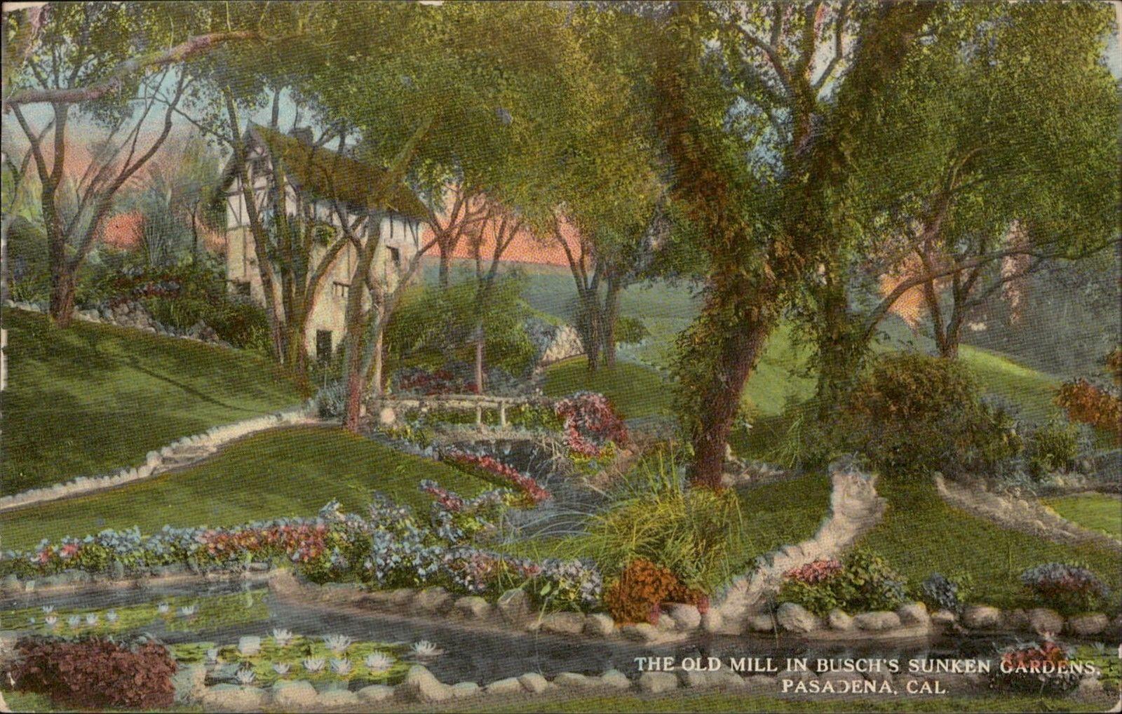 Old Mill Sunken Gardens Pasadena California / HipPostcard