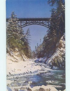 Pre-1980 BRIDGE SCENE Quechee - Near Hartford & Woodstock Vermont VT AD3852